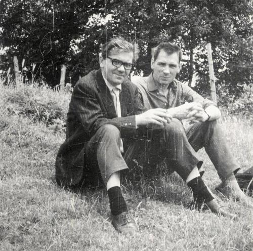 Изет Сарайлич(слева) и Николай Година. г. Сараево, 1967 г.