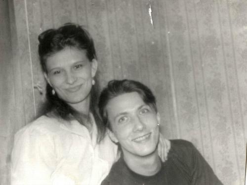 С любимой. Мурманск январь 1992
